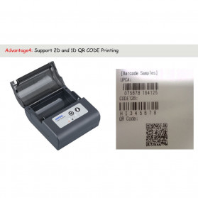 HSPOS Mini Portable Bluetooth Thermal Receipt Label Printer 80mm - HS-88AI - Black - 10