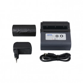 HSPOS Mini Portable Bluetooth Thermal Receipt Label Printer 80mm - HS-88AI - Black - 5