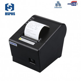 HSPOS POS Thermal Receipt Label Printer 58mm USB + LAN - HS-K58CUL - Black