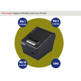 HSPOS POS Thermal Receipt Label Printer 58mm USB + LAN - HS-K58CUL - Black - 9