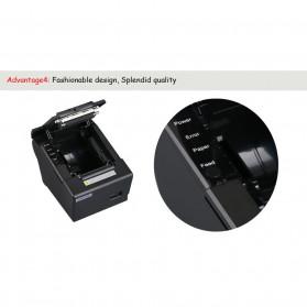 HSPOS POS Thermal Receipt Label Printer 58mm USB + LAN - HS-K58CUL - Black - 10