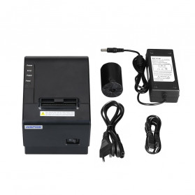 HSPOS POS Thermal Receipt Label Printer 58mm USB + LAN - HS-K58CUL - Black - 5