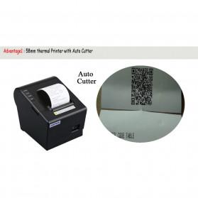 HSPOS POS Thermal Receipt Label Printer 58mm USB + LAN - HS-K58CUL - Black - 7