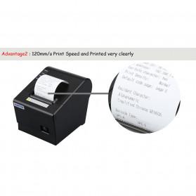 HSPOS POS Thermal Receipt Label Printer 58mm USB + LAN - HS-K58CUL - Black - 8