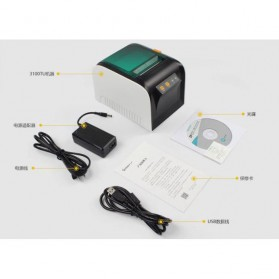 GPRINTER Thermal Label Printer Retail - GP3100TU - Black with White Side - 10