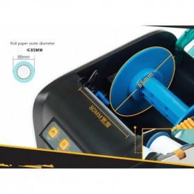 GPRINTER Thermal Label Printer Retail Bluetooth Version - GP3100TU - Black with White Side - 7