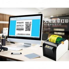 GPRINTER Thermal Label Printer Retail Bluetooth Version - GP3100TU - Black with White Side - 9
