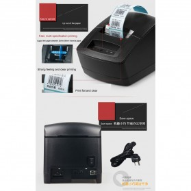 Gprinter Thermal Barcode Printer USB 127mm/s - GP2120TU - Black - 4