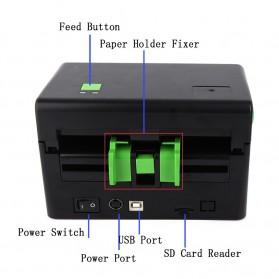 BIAOTOP Printer POS Label Thermal Receipt Printer 108mm - ZY-U288PD - Black - 3