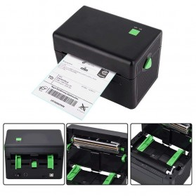 BIAOTOP Printer POS Label Thermal Receipt Printer 108mm - ZY-U288PD - Black - 4