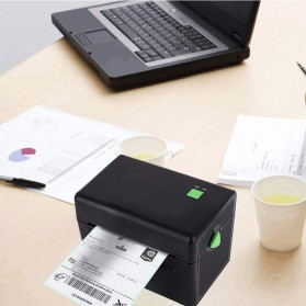 BIAOTOP Printer POS Label Thermal Receipt Printer 108mm - ZY-U288PD - Black - 5