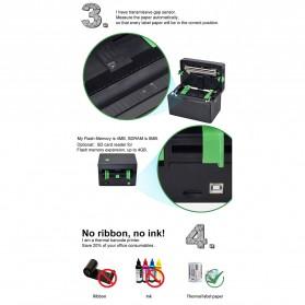 BIAOTOP Printer POS Label Thermal Receipt Printer 108mm - ZY-U288PD - Black - 6