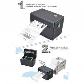BIAOTOP Printer POS Label Thermal Receipt Printer 108mm - ZY-U288PD - Black - 7