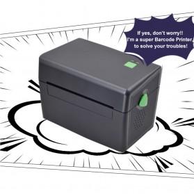 BIAOTOP Printer POS Label Thermal Receipt Printer 108mm - ZY-U288PD - Black - 8