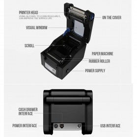 Xprinter POS Thermal Receipt Printer 80mm - XP-370B - Black - 5