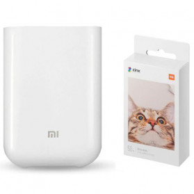 Xiaomi Mijia Smart Pocket Photo Printer AR + 20PCS Paper - XMKDDYJHT01 - White