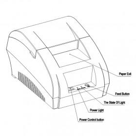 Taffware POS Thermal Receipt Printer 57.5mm - ZJ-5890K - Black - 4