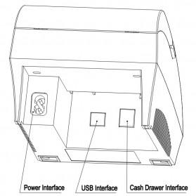 Taffware POS Thermal Receipt Printer 57.5mm - ZJ-5890K - Black - 5