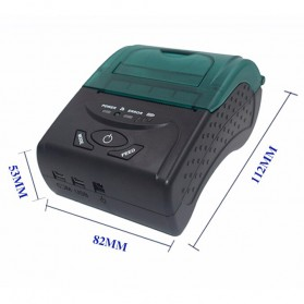 Zjiang Mini Portable Bluetooth Thermal Receipt Printer - 5807 - Black - 7