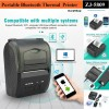 3D Printer, Thermal Printer - Zjiang Mini Portable Bluetooth Thermal Receipt Printer - 5809 - Black