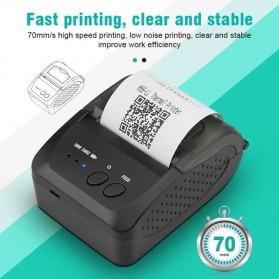 Zjiang Mini Portable Bluetooth Thermal Receipt Printer - 5809 - Black - 3