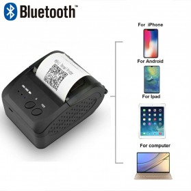 Zjiang Mini Portable Bluetooth Thermal Receipt Printer - 5809 - Black - 4