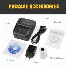 Zjiang Mini Portable Bluetooth Thermal Receipt Printer - 5809 - Black - 5