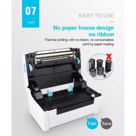 Zjiang POS Thermal Receipt Label Printer 110mm - ZJ-9200 - White - 9