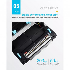 Zjiang POS Thermal Receipt Label Printer 110mm - ZJ-9200 - White - 11