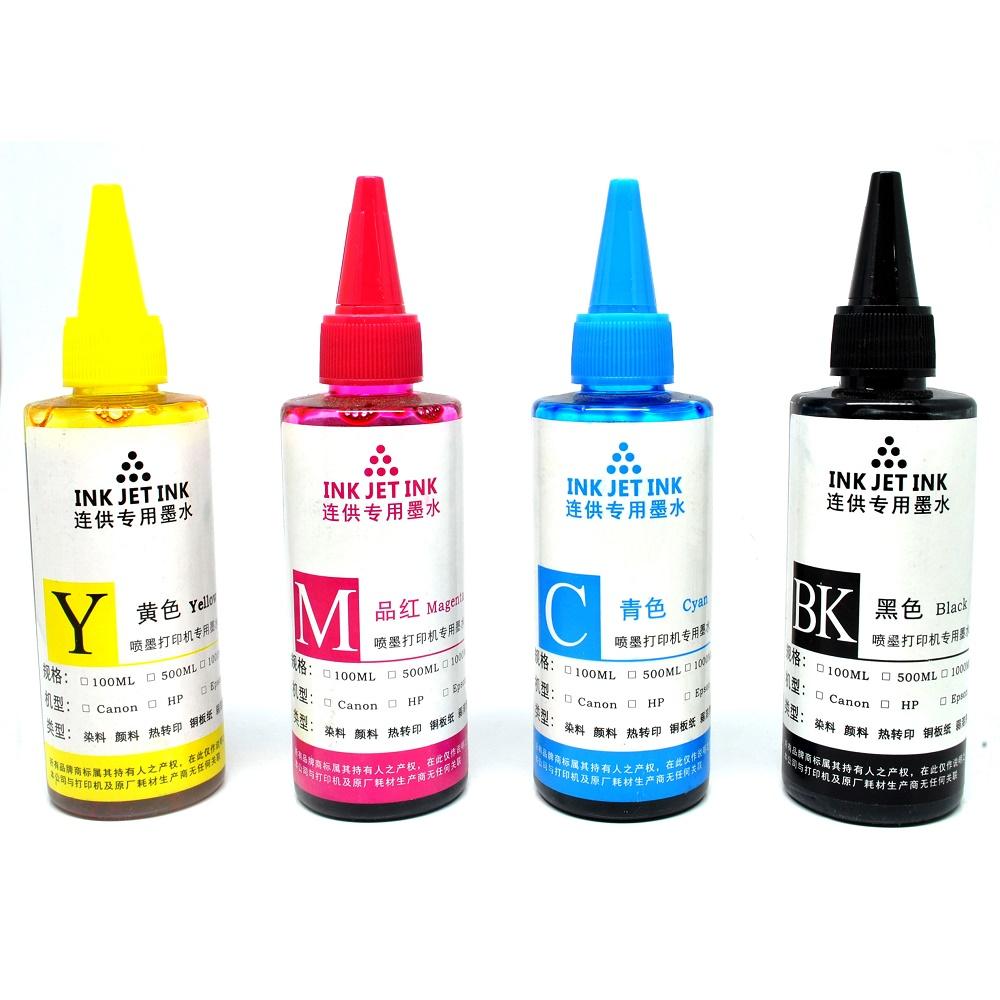 ... Ink Refill Bottle for Canon Dell HP Printer Ink Cartridges 100ml / Tinta Printer - Black ...