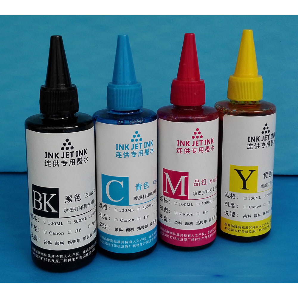 Ink Refill Bottle For Canon Dell Hp Printer Cartridges 100ml Sepatu Kantor Wanita Rc312 Tinta Black