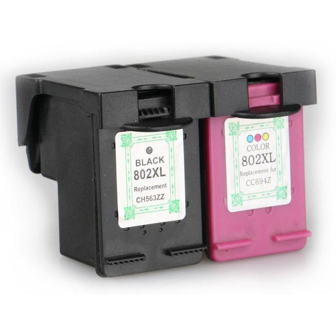 Replacement Printer Ink Cartridge HP H-802XL Black Face - Black - 5 ...