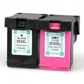 Replacement Printer Ink Cartridge HP H-802XL Color Face - Multi-Color
