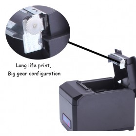 Thermal Receipt Printer with WiFi / LAN / USB Port - HS-E81ULW - Black - 3