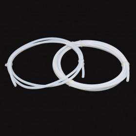 Selang Teflon PTFE Tube untuk J-Head 3D Printer Diameter 2 x 3 - 5M - White - 3