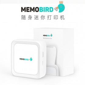 Memobird Smart Mini Printer Thermal Bluetooth - G3 - White/Blue - 4