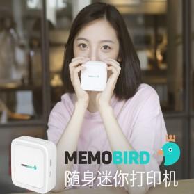 Memobird Smart Mini Printer Thermal Bluetooth - G3 - White/Blue - 7