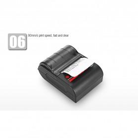 GOOJPRT POS Bluetooth Thermal Receipt Printer 58mm - MTP-II - Black - 9