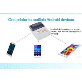 GOOJPRT POS Bluetooth Thermal Receipt Printer 58mm - JP-PT200 - Black - 7