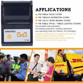 GOOJPRT POS Bluetooth Thermal Receipt Printer 58mm - JP-PT200 - Black - 9