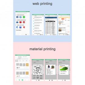 GOOJPRT PeriPage Inkless Pocket Photo Printer A6 304DPI with 3 Roll Paper - White - 8