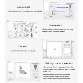 Master 2 Printer 3D Ukir Kayu Laser Engraving Machine Kit 3500mW - Black - 10
