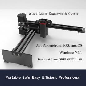 Master 2 Printer 3D Ukir Kayu Laser Engraving Machine Kit 3500mW - Black - 2