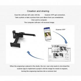 Master 2 Printer 3D Ukir Kayu Laser Engraving Machine Kit 3500mW - Black - 3