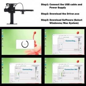 Master 2 Printer 3D Ukir Kayu Laser Engraving Machine Kit 3500mW - Black - 7