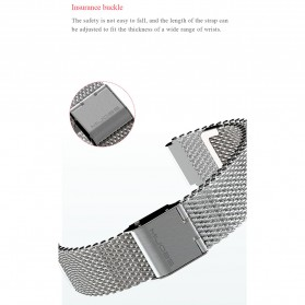 Mijobs Milanese Strap Watchband Stainless Steel for Xiaomi Mi Band 3 - Silver - 4