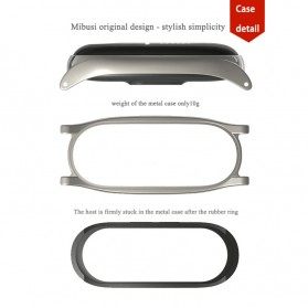 Mijobs 3 Point Strap Watchband Stainless Steel for Xiaomi Mi Band 3 - Silver - 5