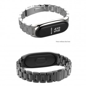 Mijobs 3 Point Strap Watchband Stainless Steel for Xiaomi Mi Band 3 - Silver - 6