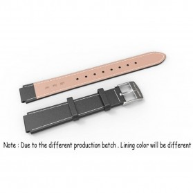 Mijobs Strap Watchband Kulit PU Leather for Xiaomi Mi Band 3 - Silver - 6