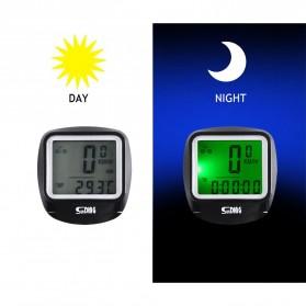 SUNDING Odometer Speedometer Monitor Sepeda - SD-568AE - Black - 3